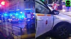 Cztery osoby w szpitalu po wypadku w samym centrum Warszawy