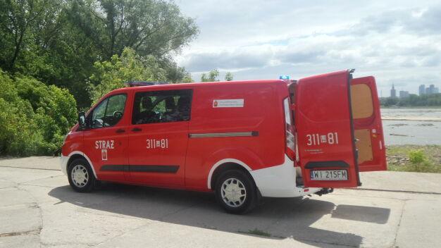 """""""Nieznana substancja na Wiśle"""". Strażacy w akcji"""