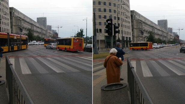 Autobus przejeżdża przez skrzyżowanie Mateusz Szmelter / tvnwarszawa.pl