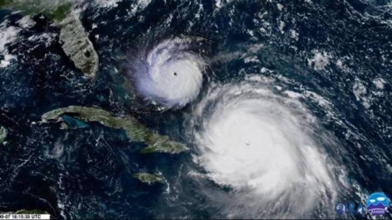 Porównanie huraganów Andrew z roku 1992 i Irmy (większa)